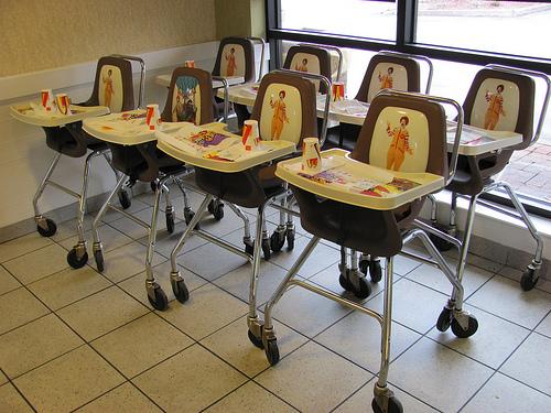 McDonalds high chairs