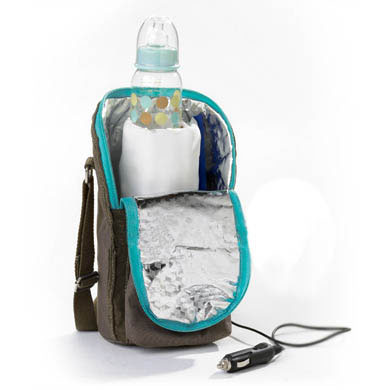 BEABA Isotherm Tasche für Babyflaschen olive:türkis Kollektion 2010